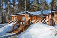 Casa no inverno Imagem de Stock