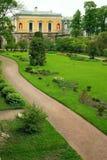 Casa no jardim Foto de Stock