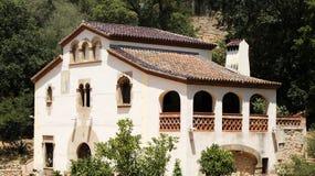 Casa no jardim botânico de Barcelona Imagens de Stock Royalty Free