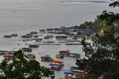 Casa no lago, Koh Yo Island, Songkhla, Tailândia Foto de Stock