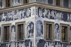 A casa no minuto em Praga Fotografia de Stock