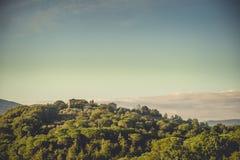 A casa no monte, Toscânia, Itália Foto de Stock