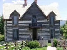 Casa no museu das Montanhas Rochosas Foto de Stock