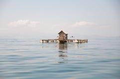 Casa no oceano Fotografia de Stock