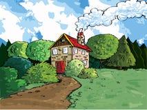 Casa no país ilustração do vetor