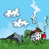 Casa no país ilustração stock