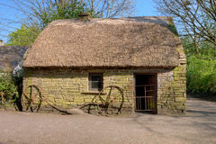 Casa no parque popular de Bunratty - Ireland. Imagem de Stock