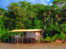 Casa no rio Imagem de Stock Royalty Free