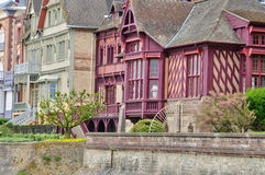 Casa no sur Mer de Trouville em Normandie Foto de Stock Royalty Free