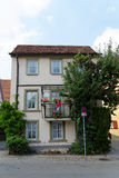 Casa no tauber do der do ob de Rothenburg, Alemanha Fotos de Stock