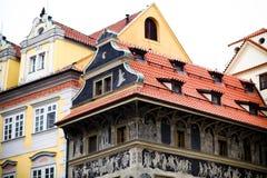 Casa no ` velho s de Praga da cidade Fotos de Stock Royalty Free