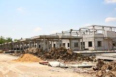 Sito della costruzione di edifici Fotografia Stock