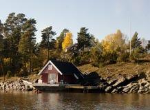 Casa noruega tradicional Imágenes de archivo libres de regalías