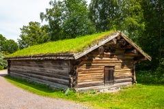 Casa norueguesa da exploração agrícola Fotos de Stock Royalty Free