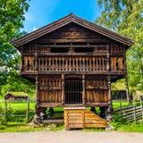 Casa norvegese tradizionale Immagine Stock