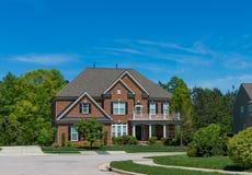 Casa nos E.U. Fotografia de Stock Royalty Free