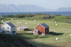 Casa nos montes Foto de Stock
