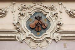 Casa nos três violinos pequenos em Praga Imagem de Stock Royalty Free