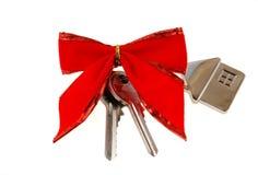 Casa nova como um presente! fotografia de stock royalty free