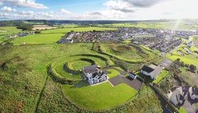 Casa nova construída em Ring Portballintrae Co Neolítico Derry Northern Ireland 2017 fotos de stock royalty free