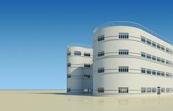 Casa nova da arquitetura moderna Fotografia de Stock Royalty Free