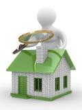 Casa nova da busca Fotografia de Stock Royalty Free