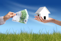 Casa nova de compra Imagem de Stock