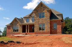 Casa nova luxuoso Imagem de Stock Royalty Free
