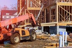 Casa nova sob a construção da construção sua casa ideal Fotografia de Stock