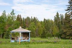 Casa o cabaña abandonada en el bosque Fotografía de archivo libre de regalías