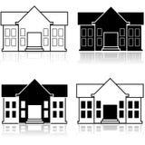 Casa operata illustrazione vettoriale