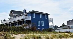 Casa oriental do oceanfront da costa de Virginia Beach Fotos de Stock Royalty Free