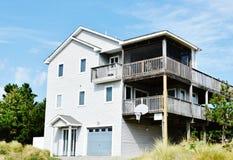 Casa oriental do oceanfront da costa de Virginia Beach fotografia de stock royalty free