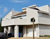 Casa oriental do oceanfront da costa de Virginia Beach imagem de stock