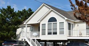 Casa oriental do oceanfront da costa de Virginia Beach fotografia de stock