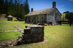 Casa original do governo, Ilhas Norfolk imagens de stock