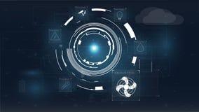 Casa ou ícone inteligente azul no fundo colorido Conceito do jogo Fundo esperto do vetor do conceito da casa ilustração do vetor