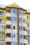 Casa ou construção urbana, teste padrão da fachada fotos de stock