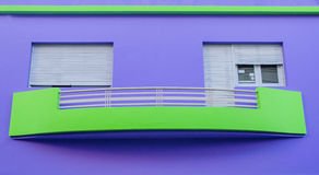 Casa púrpura Imagenes de archivo