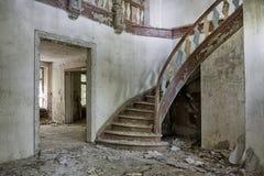 Casa padronale abbandonata e dimenticata Fotografia Stock Libera da Diritti
