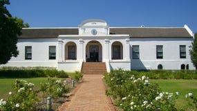 Casa padronale dello stato del vino del Sudafrica Fotografia Stock