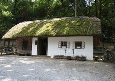 casa Paja-cubierta Imagenes de archivo