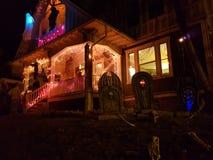 Casa para Dia das Bruxas foto de stock