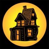 Casa para Dia das Bruxas Imagens de Stock Royalty Free
