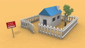 Casa para el alquiler libre illustration