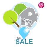 Casa para el logotipo de la venta Fotografía de archivo libre de regalías