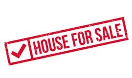 Casa para el sello de goma de la venta Imagen de archivo
