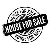 Casa para el sello de goma de la venta Fotos de archivo