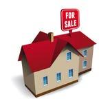 Casa para el vector de la venta ilustración del vector