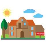 Casa para a ilustração da venda Fotografia de Stock Royalty Free